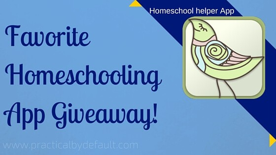 Giveaway sponsored by homeschool Helper app