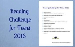 Teen Reading Challenge 2016