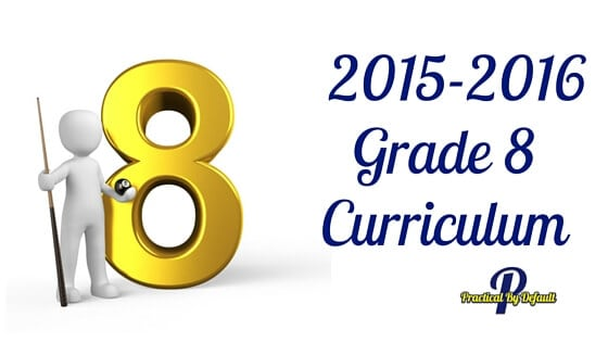 Listing of our Grade 8 Homeschooling curriculum choices