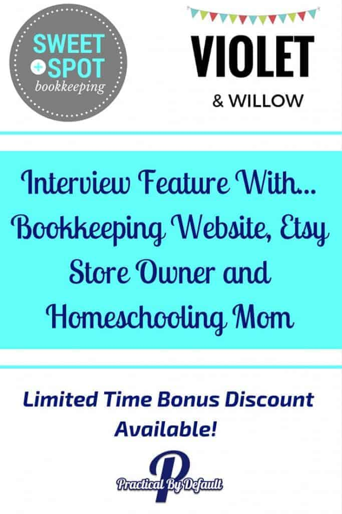 Interview Feature With Book keeping Etsy store Homeschooling mom