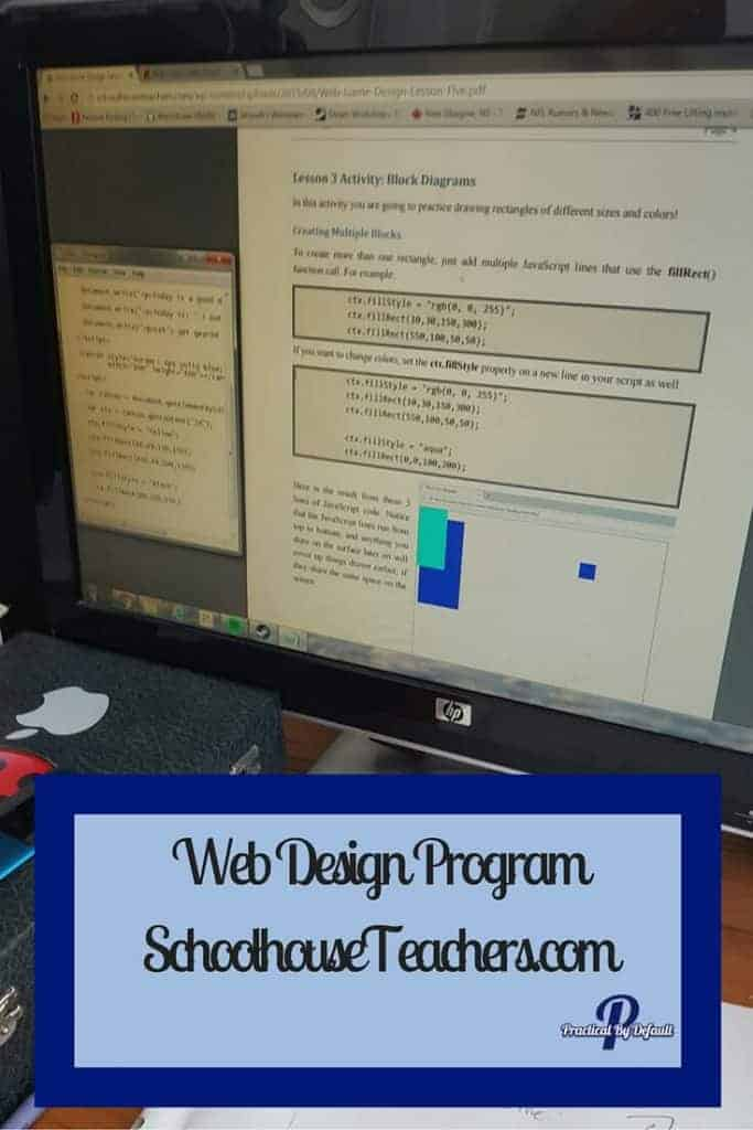 Web Design Program from SchoolhouseTeachers.com is our new Favorite online Curriculum. Sharing our Review