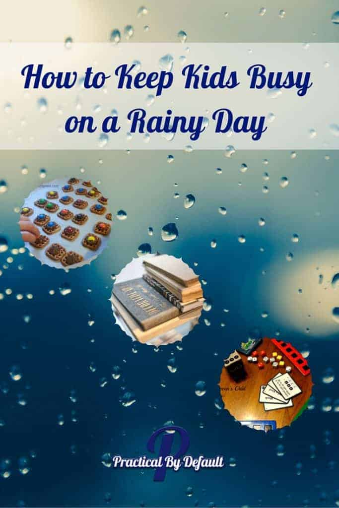 Are you kids bored on rainy days? Here are 8 ideas to keep them busy and save your sanity!