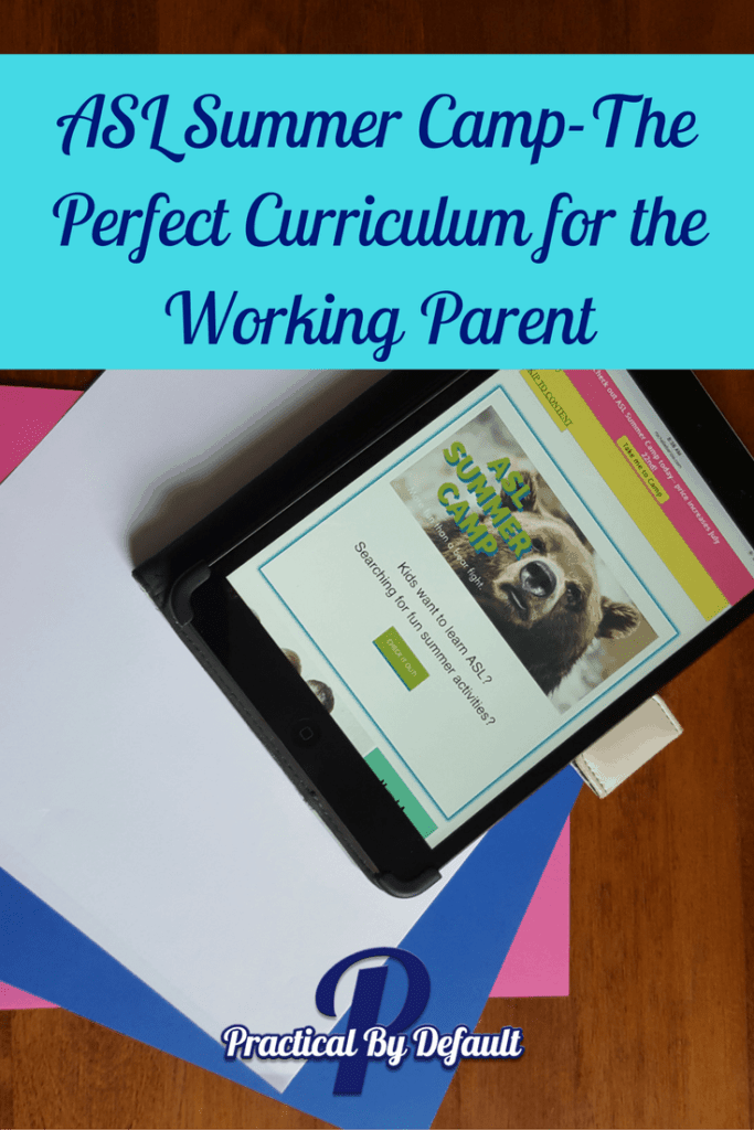 The perfect curriculum for homeschooling parents working outside the home or WAHM's ASL Summer Camp will rock your socks off! Pin Me