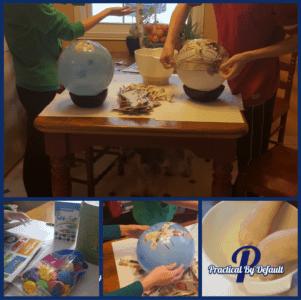 Making paper mache Masks